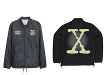 Image: X-Files Jacket: Glow-in-the-Dark Coach [Black]  (XL) - The Forecast Agency