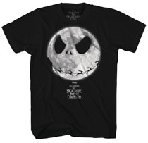 Image: Nightmare Before Christmas T-Shirt: Jack Moon [Black]  (XXL) - Mad Engine