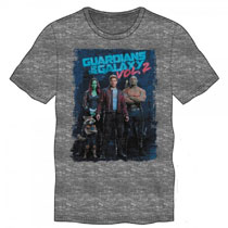Image: Guardians of the Galaxy V2 T-Shirt: Movie Poster  (M) - Bioworld Merchandising