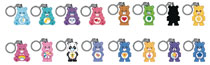 Image: Care Bears Keychain 24-Piece Blind Mystery Box Display  - Beautiful Plastic