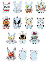 Image: Dunny the 13 Horror Comes Slithering Back 20-Count Blind Mystery Box Display  - Beautiful Plastic