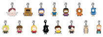 Image: South Park Zipper Pull 24-Piece Blind Mystery Box Display Series 02  - Beautiful Plastic