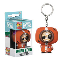 Image: Pocket Pop! South Park Figure Keychain: Zombie Kenny  - Funko