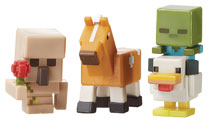 Image: Minecraft Mini-Figure 3-Pack Assortment  - Mattel Toys