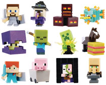 Image: Minecraft Single Mini-Fig 36-Piece Blind Mystery Box Display 2017  - Mattel Toys