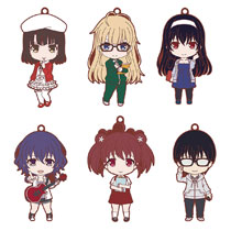 Image: Saekano Boring Girlfriend 6-Piece Rubber Trading Strap Display  - Good Smile Company