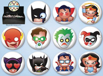 Image: DC Comics Emoji 144-Piece Button Assortment  - Ata Boy