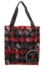 Image: DC Batman Harley Quinn Mad Love Packable Tote  - Bioworld Merchandising