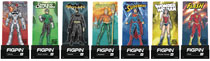 Image: Figpin Justice League Enamel Figure Pin 9-Piece Assortment  - Cmd Collectibles