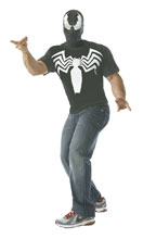 Image: Marvel T-Shirt w/Mask: Venom  (XL) - Rubies Costumes Company Inc