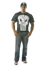 Image: Marvel T-Shirt w/Beanie: Punisher  (XL) - Rubies Costumes Company Inc
