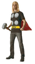 Image: Marvel T-Shirt w/Cape: Thor  (XL) - Rubies Costumes Company Inc