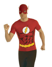 Image: DC T-Shirt w/Mask: The Flash  (L) - Rubies Costumes Company Inc