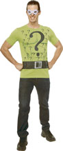 Image: DC T-Shirt w/Mask: The Riddler  (XL) - Rubies Costumes Company Inc
