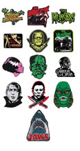 Image: Classic Horror 2-inch Patch 18-Piece Assortment  - Rock Rebel