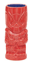 Image: Marvel Geeki Tiki Glass: Spider-Man  - Beeline Creative Inc.