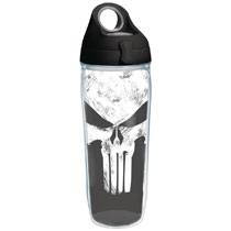 Image: Tervis Marvel Water Bottle: Punisher  (w/Lid) - Tervis Tumbler Co.