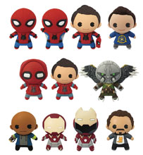 Image: Marvel Spider-Man Homecoming Cut Figural Keyring 24-Piece Blind Mystery Box Display  - Monogram Products