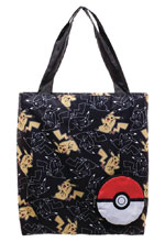 Image: Pokemon Packable Tote: Pikachu & Pokebal  - Bioworld Merchandising