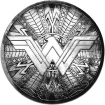 Image: Wonder Woman Movie Pewter Lapel Pin: Round Shield  - Monogram Products