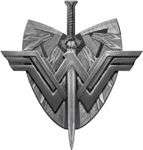 Image: Wonder Woman Movie Pewter Lapel Pin: Shield & Sword  - Monogram Products