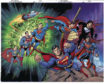 Image: Action Comics #1000 (DFE signed - Lee Gold) (wraparound) - Dynamic Forces