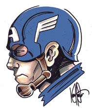 Image: Captain America #1 (DFE signed - Remarked Haeser) - Dynamic Forces