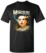 Image: Famous Monsters T-Shirt: Bride by Sanjulian  (XL) - Famous Monsters of Filmland