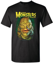 Image: Famous Monsters T-Shirt: Creature by Sanjulian  (S) - Famous Monsters of Filmland