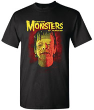 Image: Famous Monsters T-Shirt: Frankenstein by Sanjulian  (XL) - Famous Monsters of Filmland