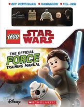 Image: Lego Star Wars Official Force Training Manual  (w/Figure) - Scholastic Inc.