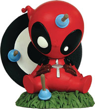 Image: Marvel Mini-Heroes Animated PVC Statue: Deadpool  - Gentle Giant Studios