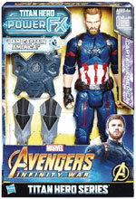 Image: Avengers 12-Inch Titan Hero Power Fx Captain America Action Figure Case  - Hasbro Toy Group