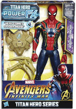 Image: Avengers 12-Inch Titan Hero Power Fx Spider-Man Action Figure Case  - Hasbro Toy Group