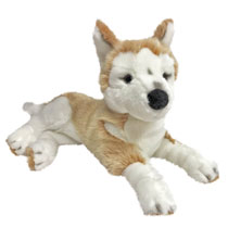 Image: Game of Thrones Ghost Plush: Nymeria Large Direwolf Sitting Cub  - Factory Entertainment