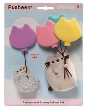 Image: Gund Pusheen and Stormy Balloon Clings  - Gund