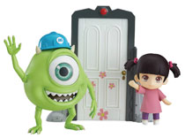 Image: Monsters Inc. Nendoroid Action Figure: Mike & Boo Set  (deluxe version) - Good Smile Company