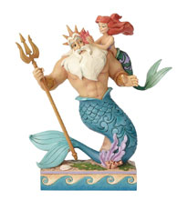 Image: Disney Traditions Figure: Ariel and Triton  - Enesco Corporation