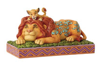 Image: Disney Traditions Figurine: Simba and Mufasa  - Enesco Corporation