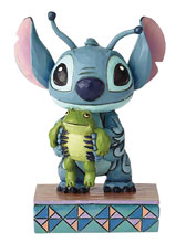 Image: Disney Traditions Figure: Stitch with Frog  - Enesco Corporation