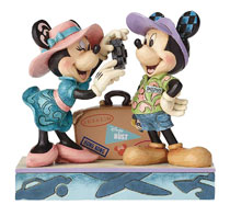 Image: Disney Traditions Travel: Mickey and Minnie Mouse  - Enesco Corporation