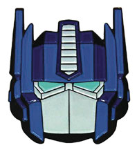 Image: Transformers Glitter Face Pin: Optimus Prime  - Han Cholo