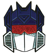 Image: Transformers Glitter Face Pin: Soundwave  - Han Cholo