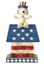 Image: Peanuts Figure: Patriotic Snoopy Doghouse  - Enesco Corporation