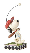 Image: Peanuts Figure: Snoopy at Bat  - Enesco Corporation