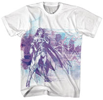 Image: Wonder Woman T-Shirt: Protector [White]  (L) - New Moda LLC