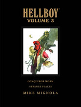 Image: Hellboy Library Edition Vol. 03: Conqueror Worm & Strange Places HC  - Dark Horse