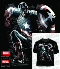 Image: Captain America: Normandy Invasion Black PX T-Shirt  (XXL) - Mad Engine
