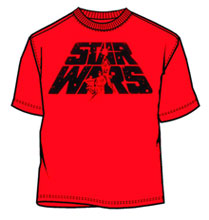 Image: Star Wars: Cover Logo Red PX T-Shirt  (M) -