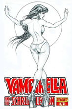Image: Vampirella: Scarlet Legion #4 (10-copy Tucci B&W incentive cover) (v10) - D. E./Dynamite Entertainment